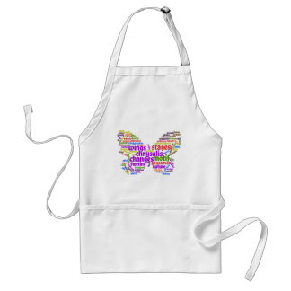 Inspirational Elegant Butterfly Tag Cloud Standard Apron