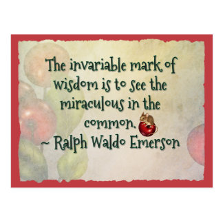 Inspirational Emerson Quote Postcard