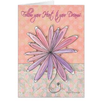 Inspirational Encouraging Floral Polka Dot Card