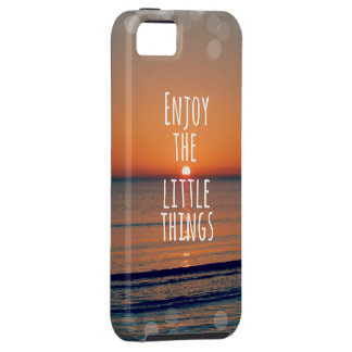 Inspirational Enjoy the Little Things Quote iPhone 5 Case
