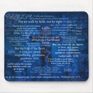 Inspirational Faith Bible Verses Mouse Pad