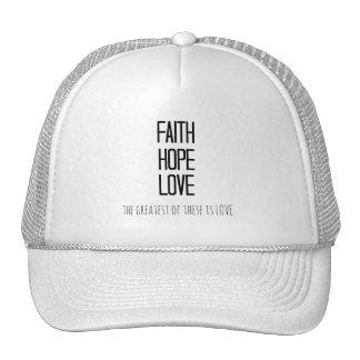 Inspirational Faith Hope Love Bible Verse Cap