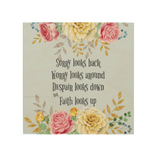 Inspirational Faith Quote Wood Canvas