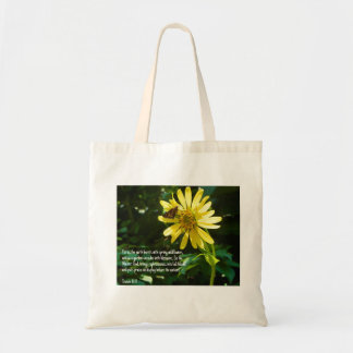Inspirational Floral Tote