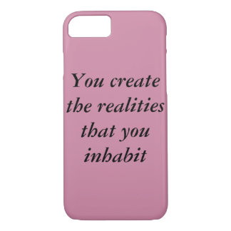 inspirational, food for thought iPhone 7 case