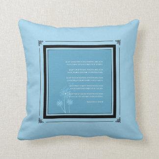 Inspirational Gandhi Quote Good Habits  | Blue Throw Pillow