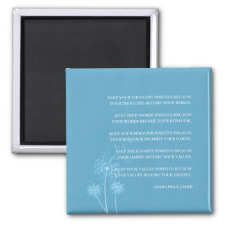 Inspirational Gandhi Quote Thoughts Habits Destiny Square Magnet