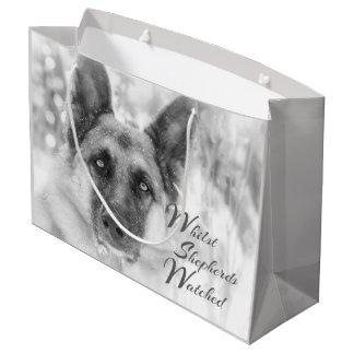 Inspirational German Shepherd Holiday Gift Bag