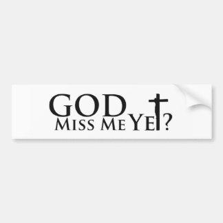 Inspirational Gifts Christian Gifts God Gear Bumper Sticker