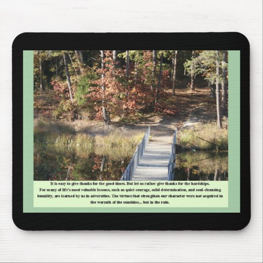 Inspirational Gifts Quiet Courage Mousepad
