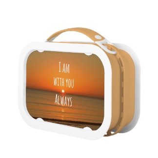 Inspirational God Quote: Bible Verse I am With You Lunch Boxes