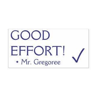 """Inspirational """"GOOD EFFORT!"""" Tutor Rubber Stamp"""