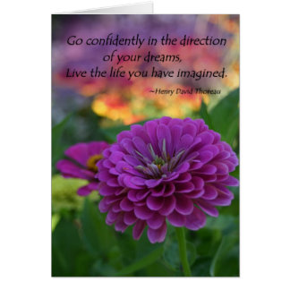 Inspirational greeting cards colorful flowers gift