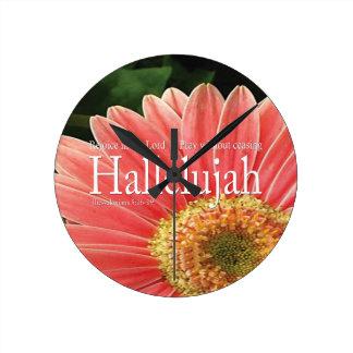 Inspirational Hallelujah Bathroom Clock