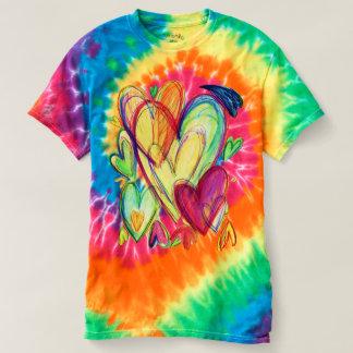 Inspirational Healing Hearts Art Tye Dye Shirt