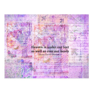 Inspirational Henry David Thoreau quote HEAVEN Postcard