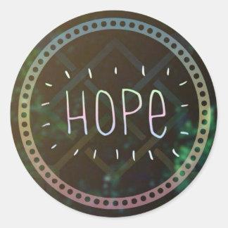 Inspirational Hope round matte sticker