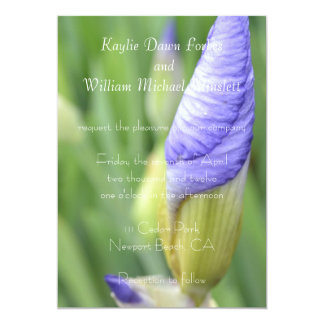 Inspirational Iris Wedding 13 Cm X 18 Cm Invitation Card