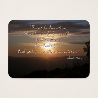 Inspirational - Isaiah 41;10 - Chubby B. Card