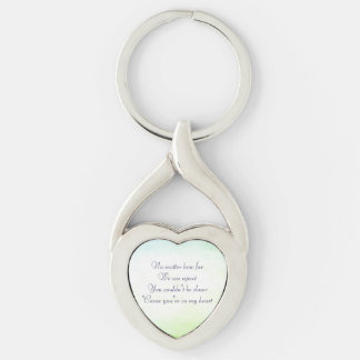 Inspirational Keychain - Love Silver-Colored Twisted Heart Key Ring
