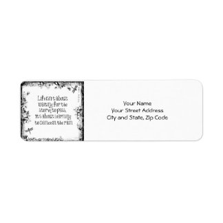 Inspirational Learning to dance in the Rain Quote Return Address Label
