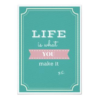 Inspirational Life Quote Invite