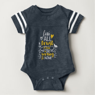 Inspirational Life Quote Love Trust Do Right Baby Bodysuit