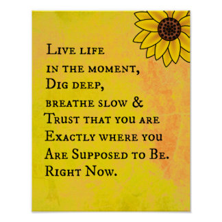 Inspirational Life Quote Poster