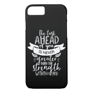 Inspirational Life Quote The Strength Within You iPhone 8/7 Case