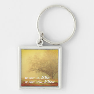 Inspirational Lone Tree Landscape Key Ring