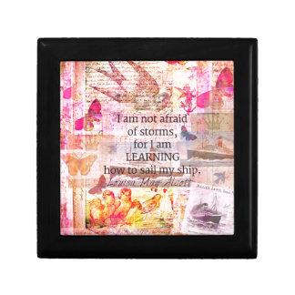 Inspirational Louisa May Alcott STORM quote Gift Box
