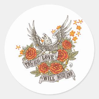 Inspirational Love Eagle Sticker