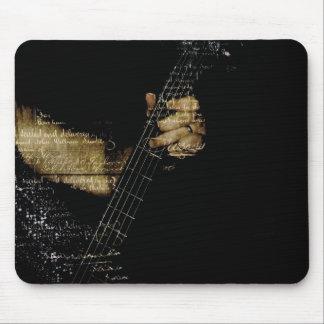 Inspirational Lyric Guitar Mouse Pad