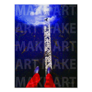 Inspirational MAKE ART Poster