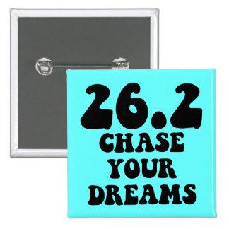 Inspirational marathon 15 cm square badge