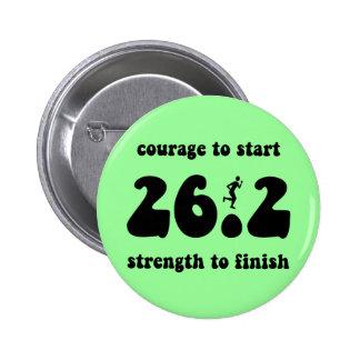 Inspirational marathon 6 cm round badge