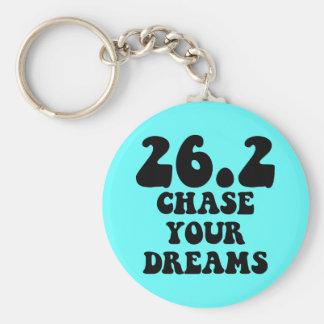 Inspirational marathon keychain