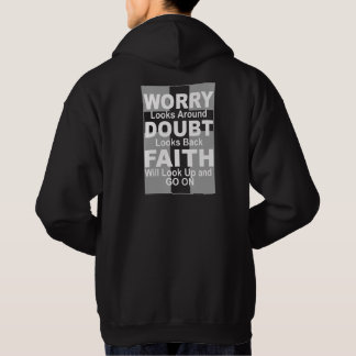 Inspirational Men's Hoodie about Faith