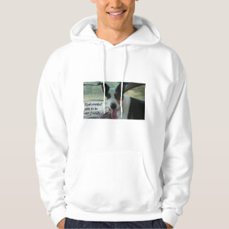 Inspirational Men's Hoodie with Dog Photo