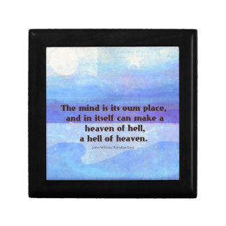 Inspirational Milton quote Paradise Lost Gift Box