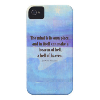 Inspirational Milton quote Paradise Lost iPhone 4 Case