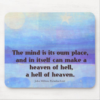 Inspirational Milton quote Paradise Lost Mouse Pad
