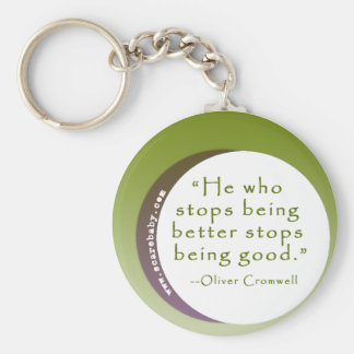 Inspirational Motivating Quote for Winners Key Chain
