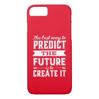 Inspirational Motivation Quote Create The Future iPhone 8/7 Case