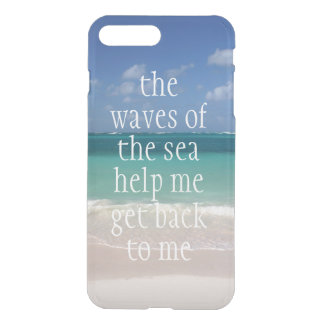 Inspirational Motivational Quote Waves of the sea iPhone 7 Plus Case