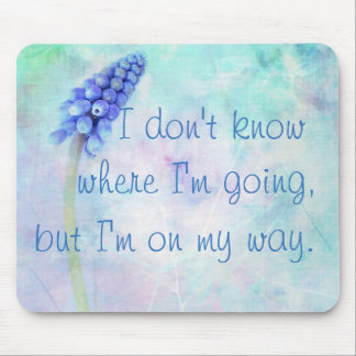 Inspirational mouse mat with floral background