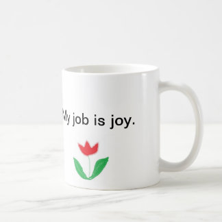 Inspirational mug - joy with flower