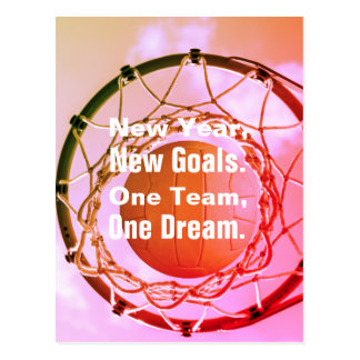 Inspirational Netball Theme Picture With Quote Postcard