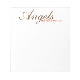 inspirational note pad, scratch pad, angels