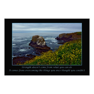 Inspirational ocean landscape print poster